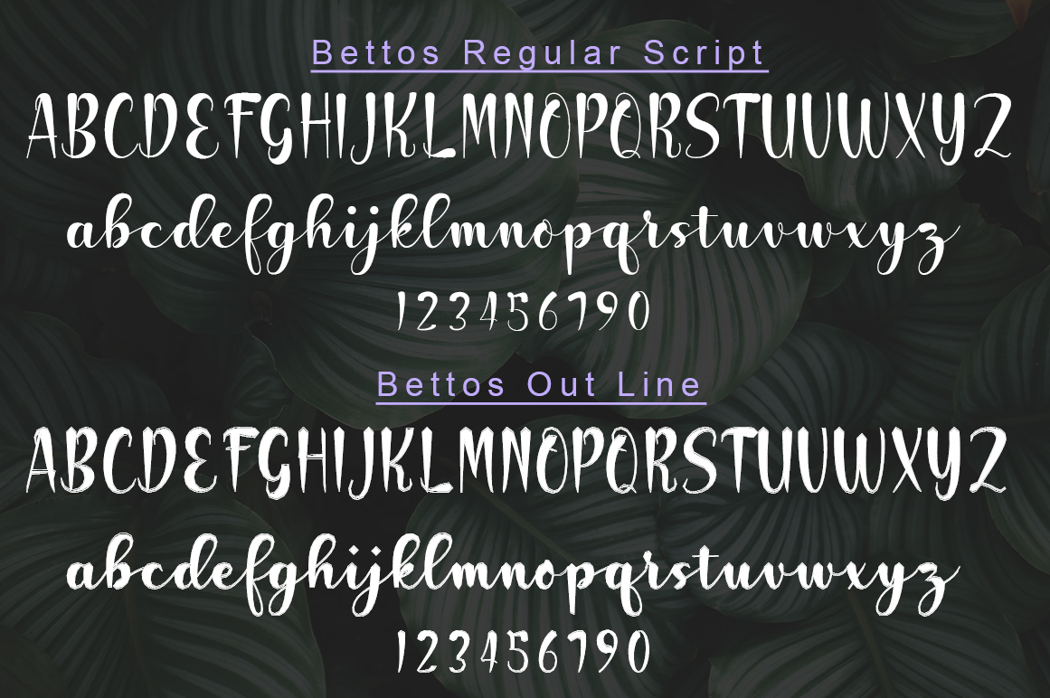 Bettos Font Duo example image 6