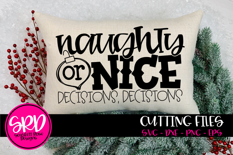 Naughty or Nice Decision Decisions - Black SVG example image 1