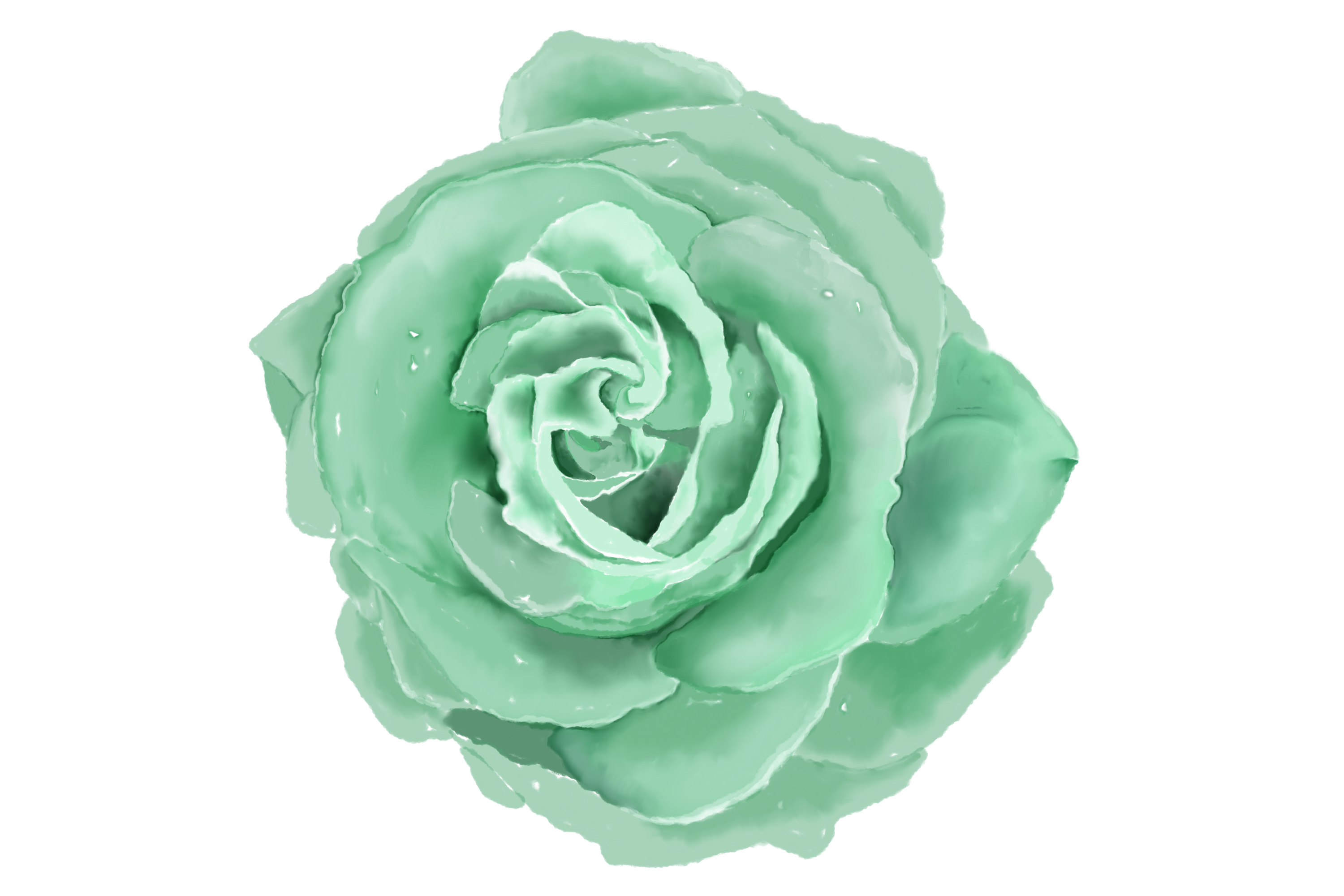 6 Digital Watercolor Roses | Clip Art Illustrations PNG/JPEG example image 3