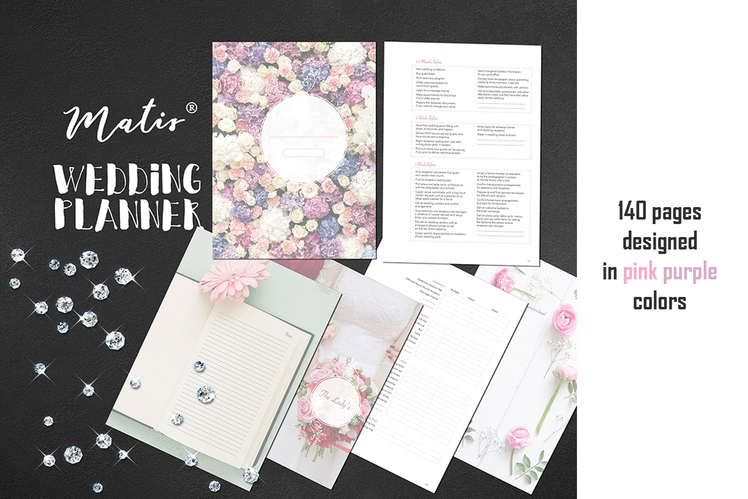 Wedding planner printable / personalization included example image 2