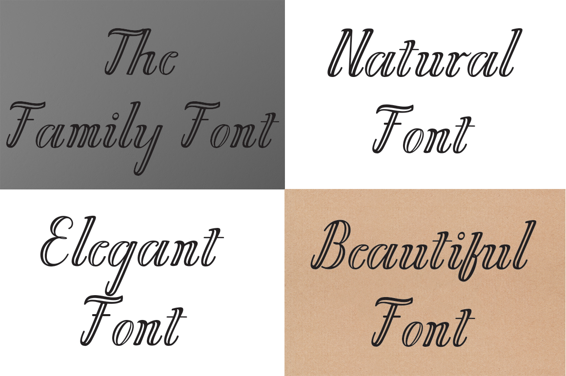 Chathalia Font Family example image 4
