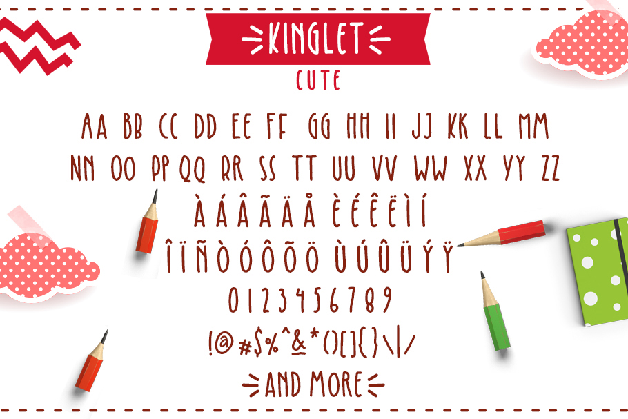 Kinglet - Cute Font Duo With Extras  example image 10