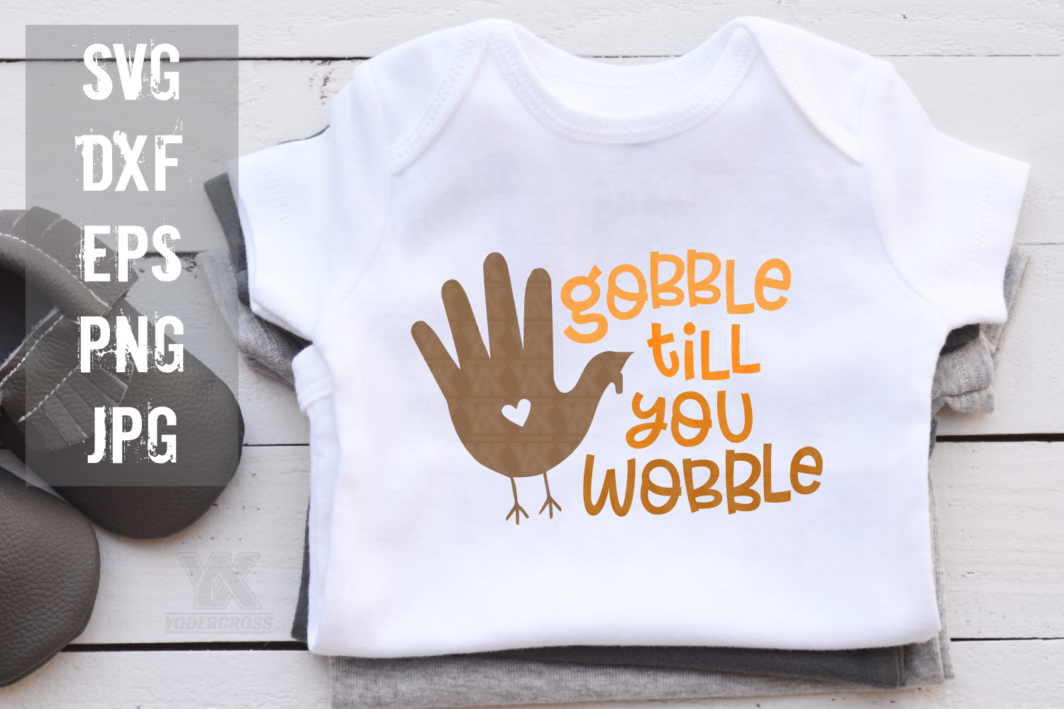 Gobble Till You Wobble Thanksgiving SVG example image 2