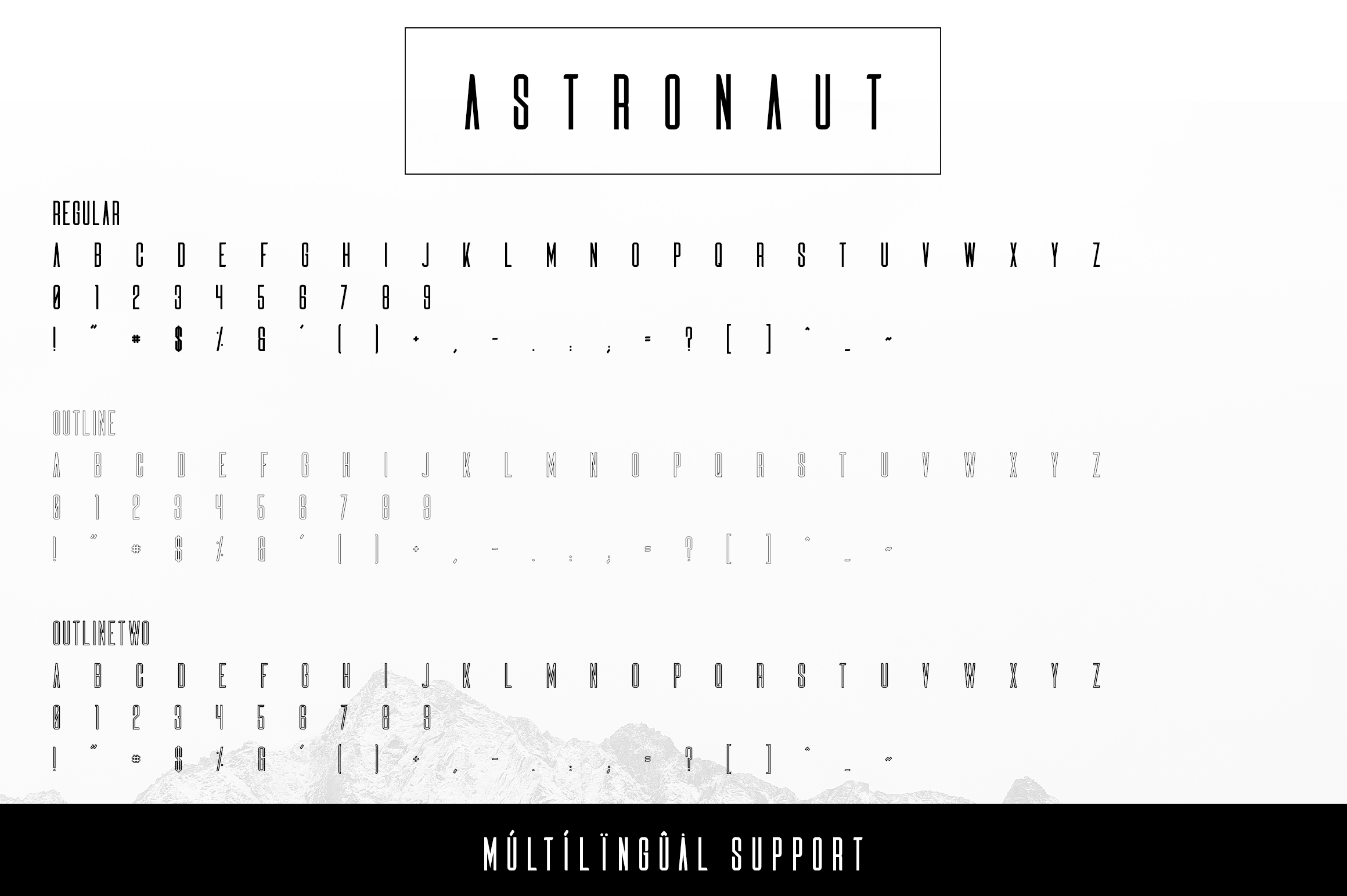Astronaut Typeface - 6 fonts example image 8
