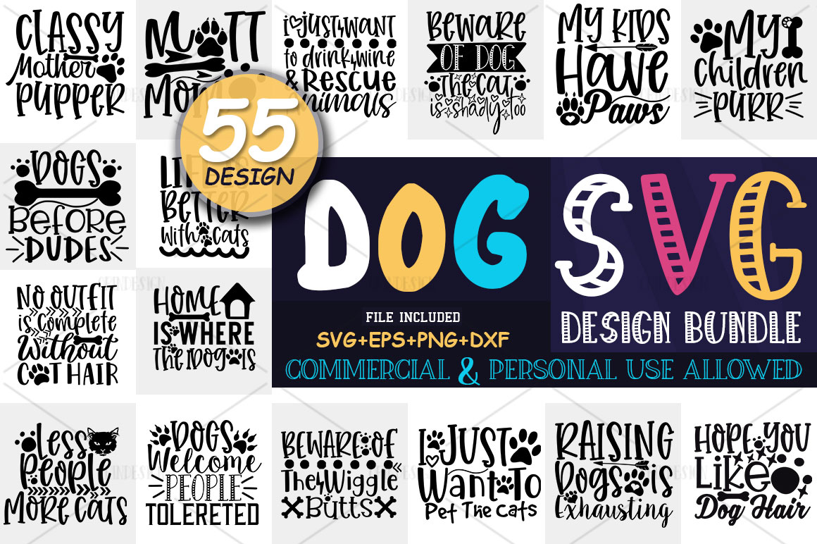 Dog SVG Design Bundle example image 1