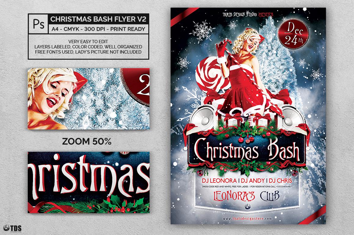 Christmas Bash Flyer Template V1 example image 2
