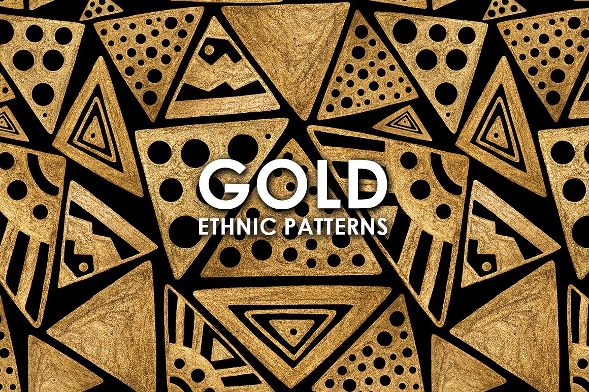 GOLD ETHNIC patterns example image 1