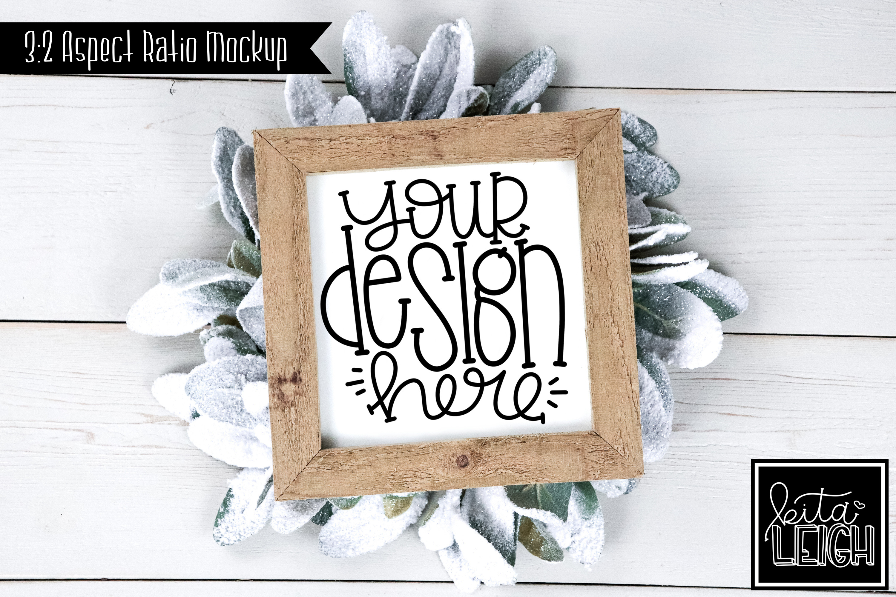 Square Sign Christmas and Winter Mockup example image 1