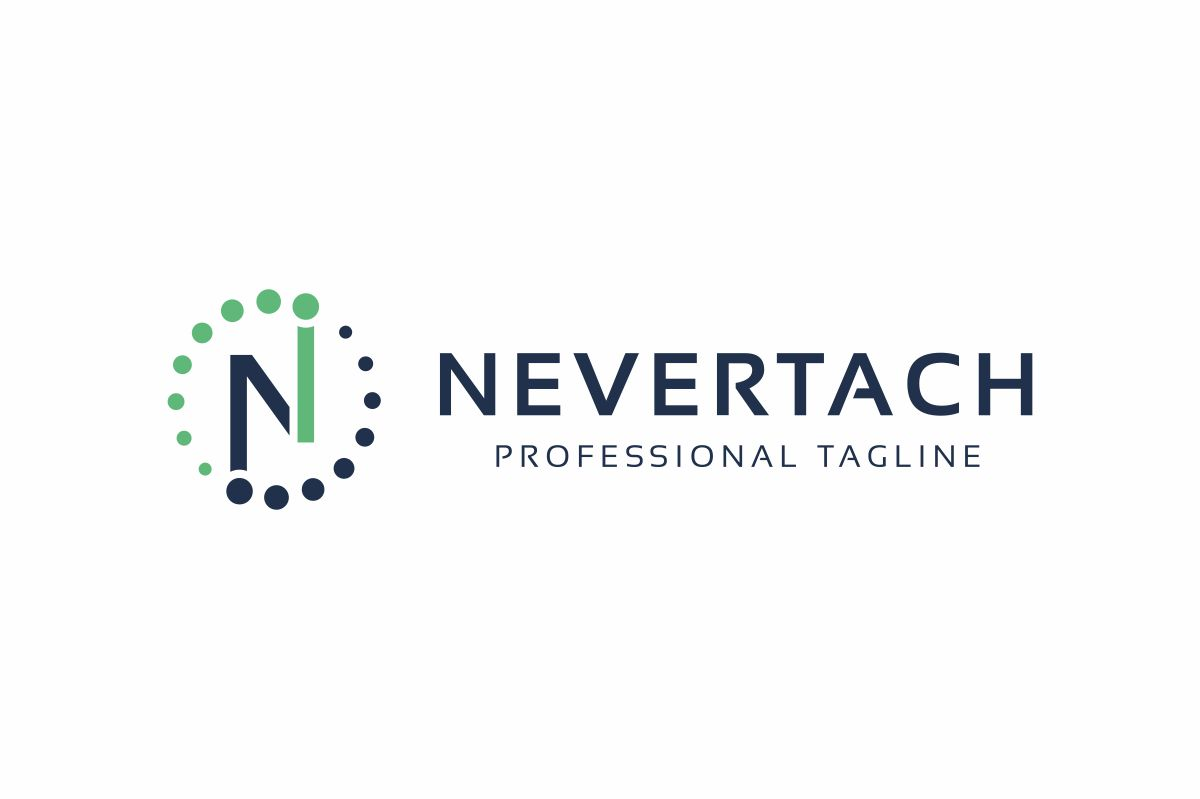 Nevertach N Lettre Logo example image 2