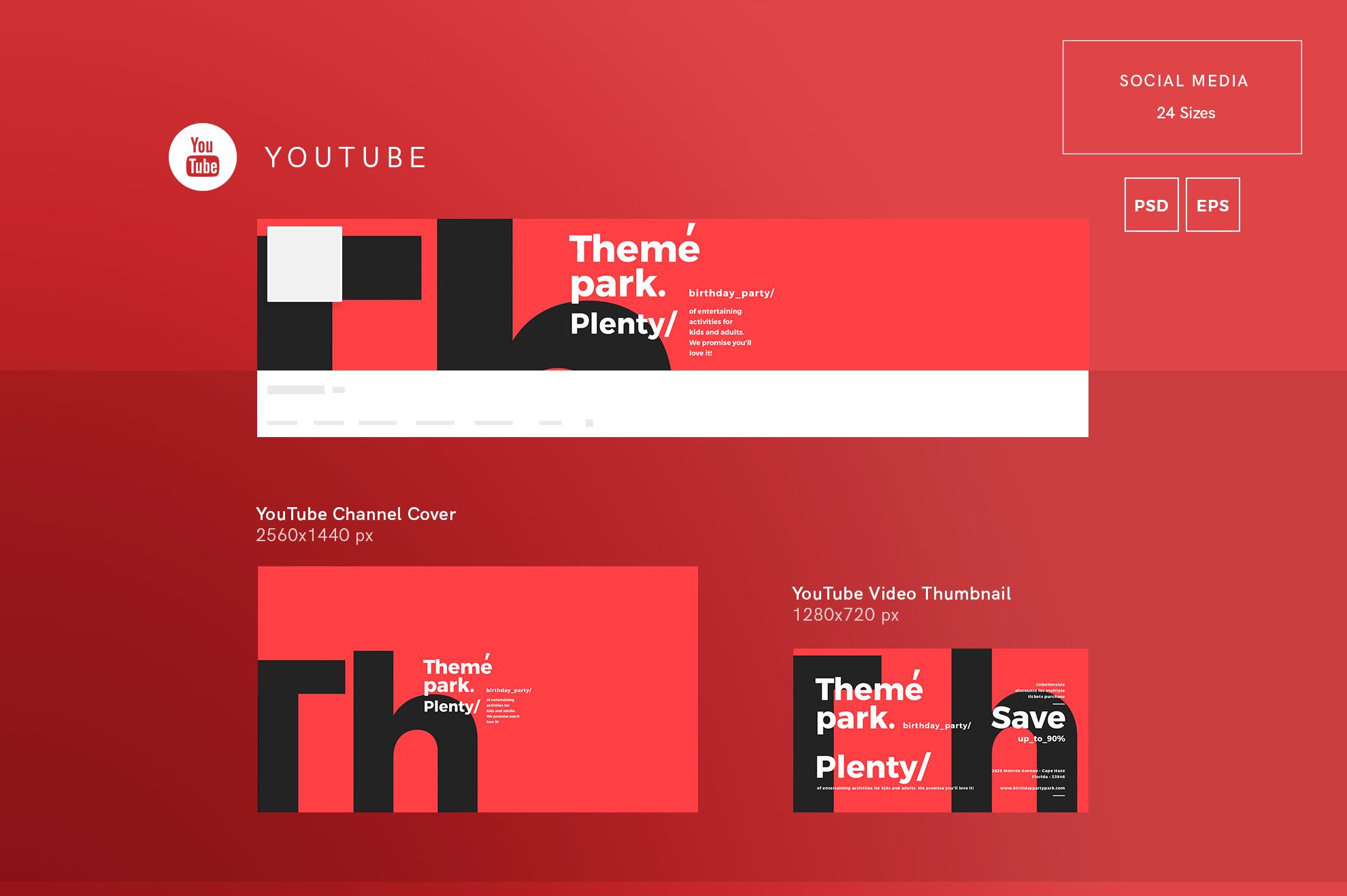 Theme Park Party Entertainment Design Templates Bundle example image 13