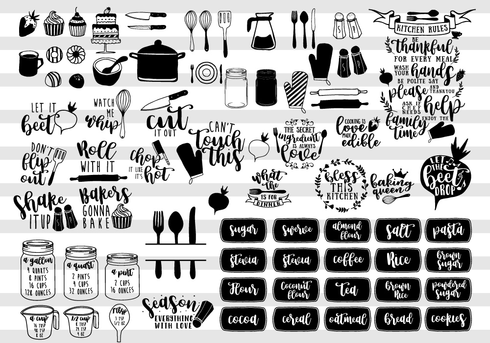 Happy Kitchen SVG Cut File Bundle example image 2