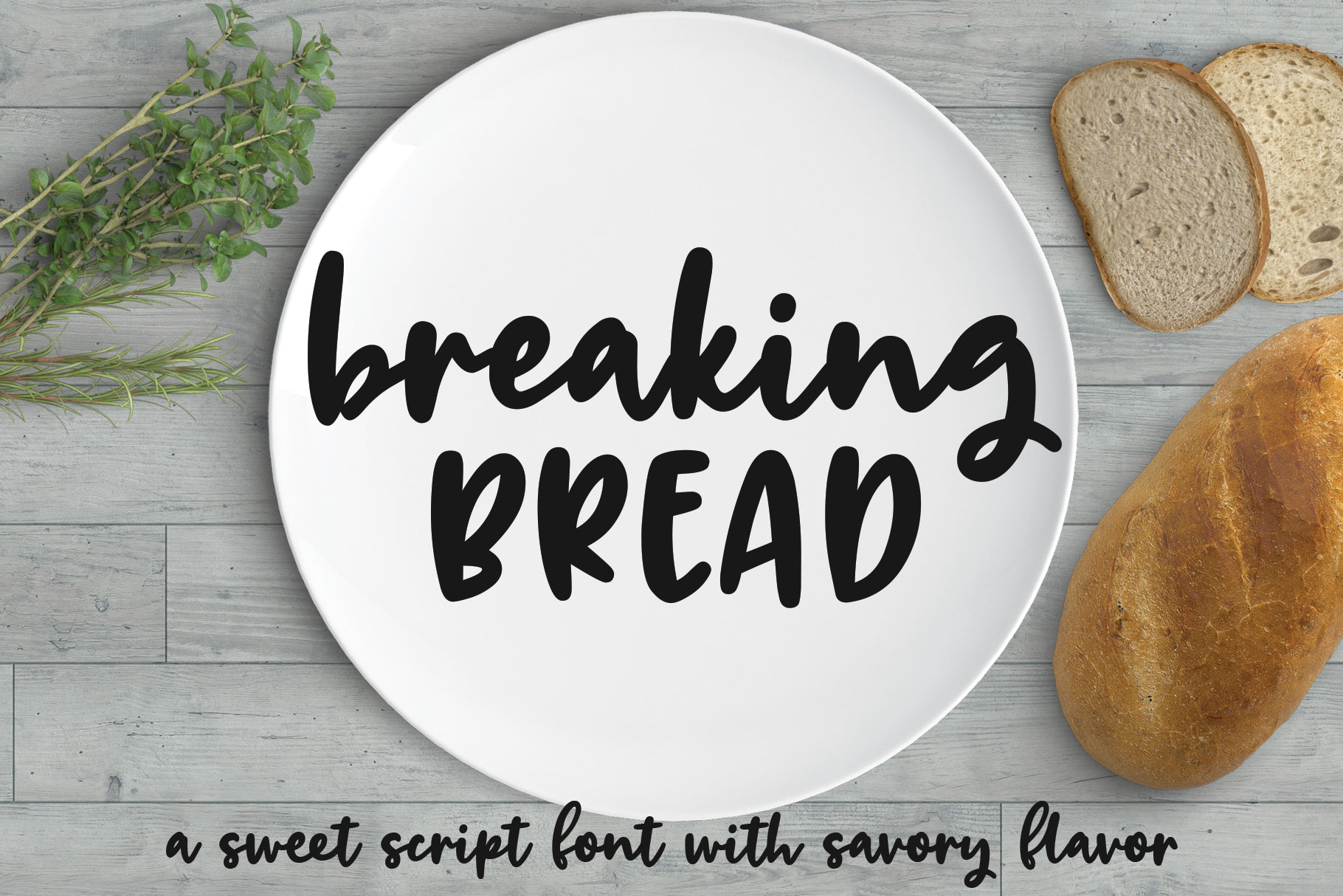 Breaking Bread - a chunky script font! example image 1