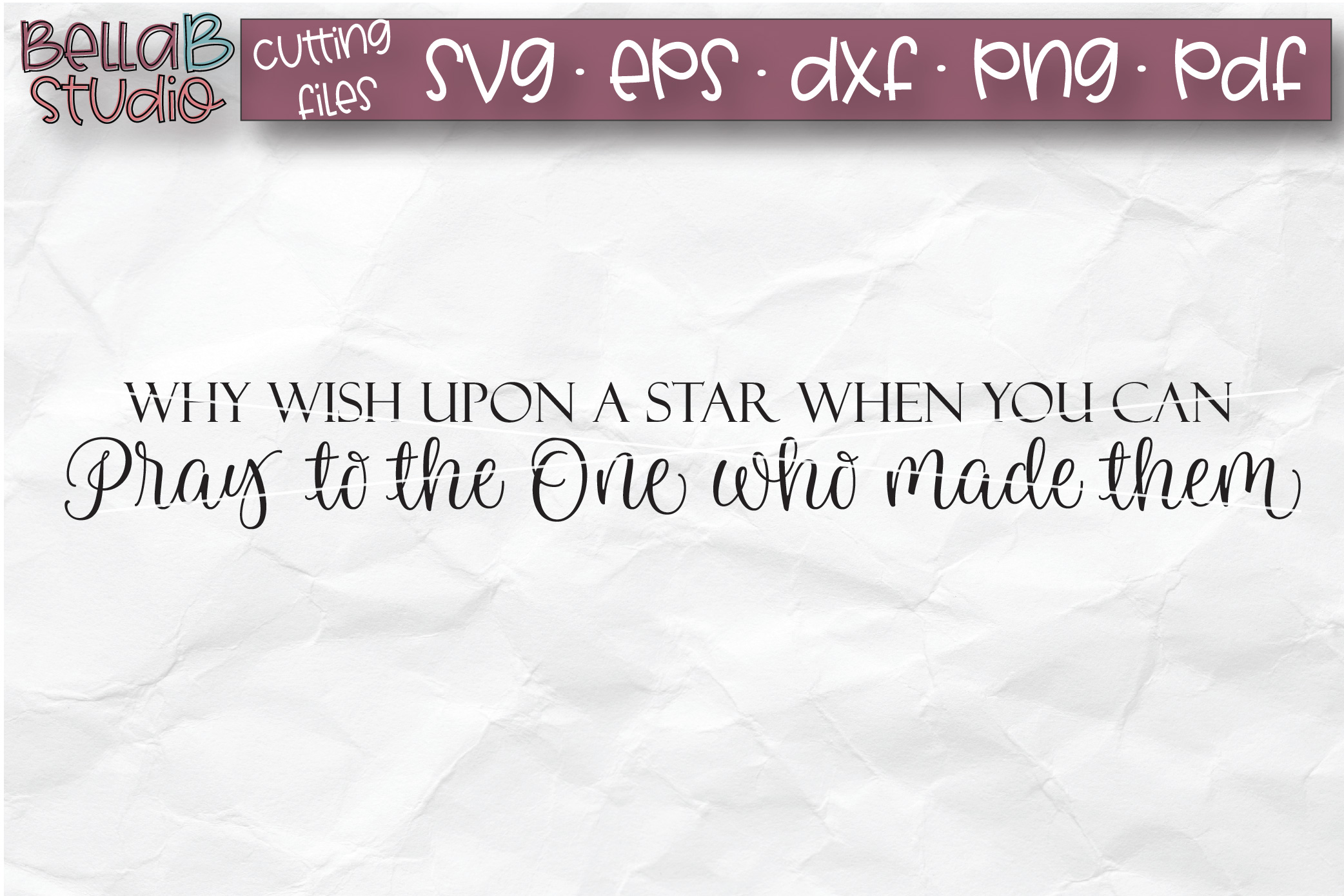 Why Wish Upon A Star When You Can Pray SVG, Christian SVG example image 2