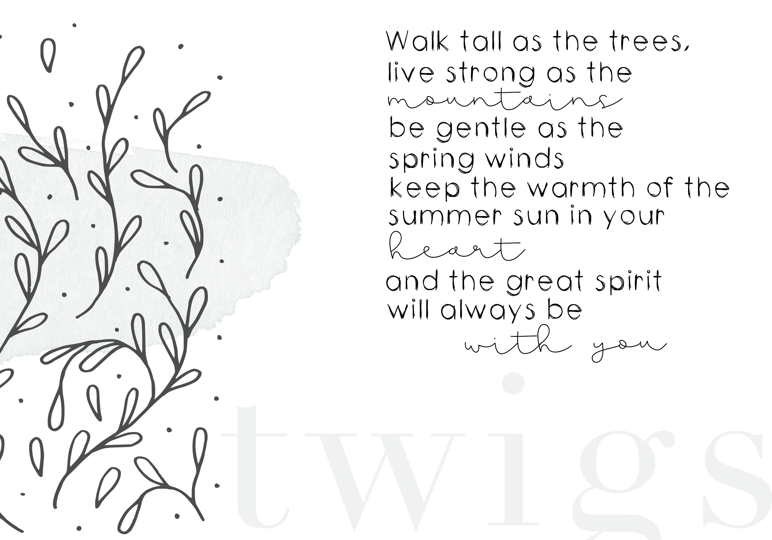 Twigs - A Handwritten Scribble Font example image 3