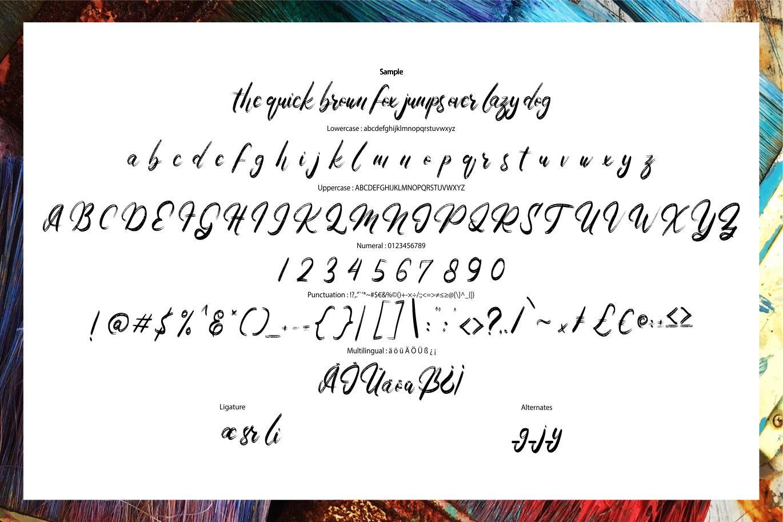 Arlaya | Script Art Font example image 6