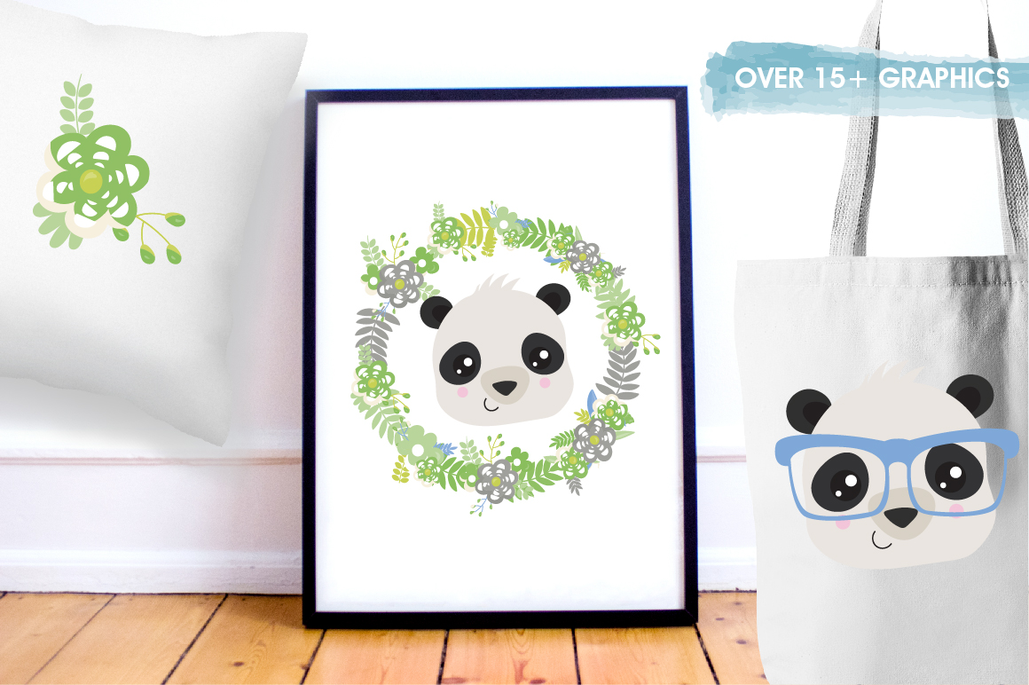Hipster Pandas graphics and illustrations example image 5