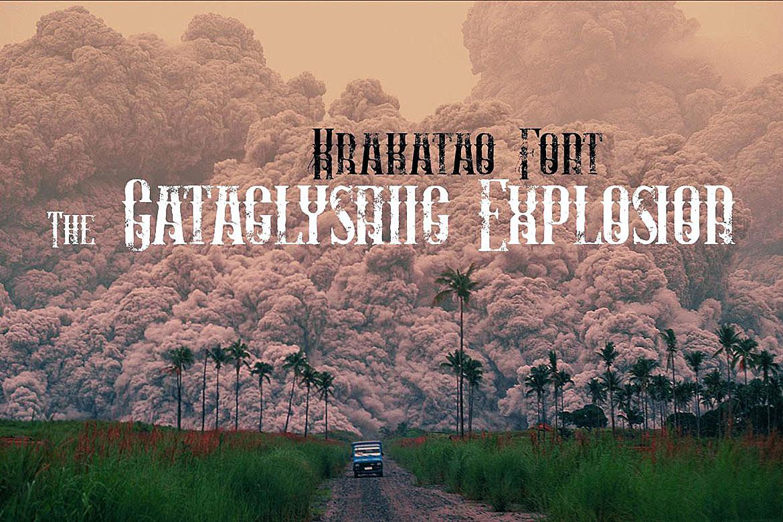 Krakatao - Vintage Font example image 4