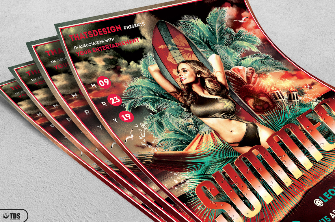 Beach Party Flyer Template V2 example image 3