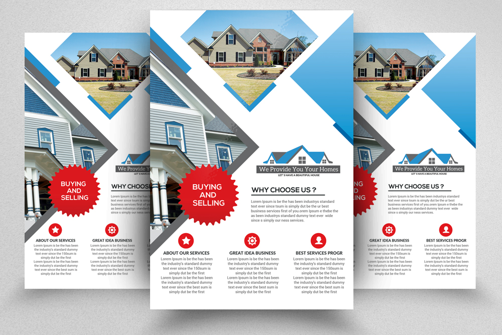 4 Real Estate Flyers Bundle example image 3