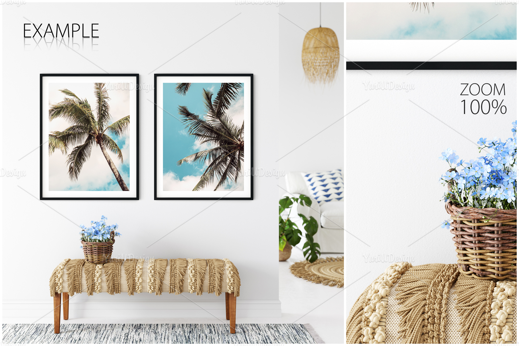 Frames & Walls Coastal Mockups Bundle example image 7