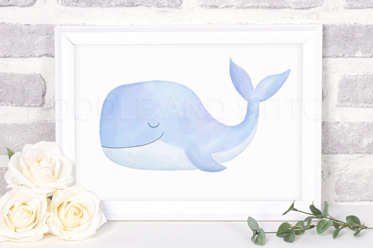 Under the Sea Watercolor Clipart Illustrations example image 4