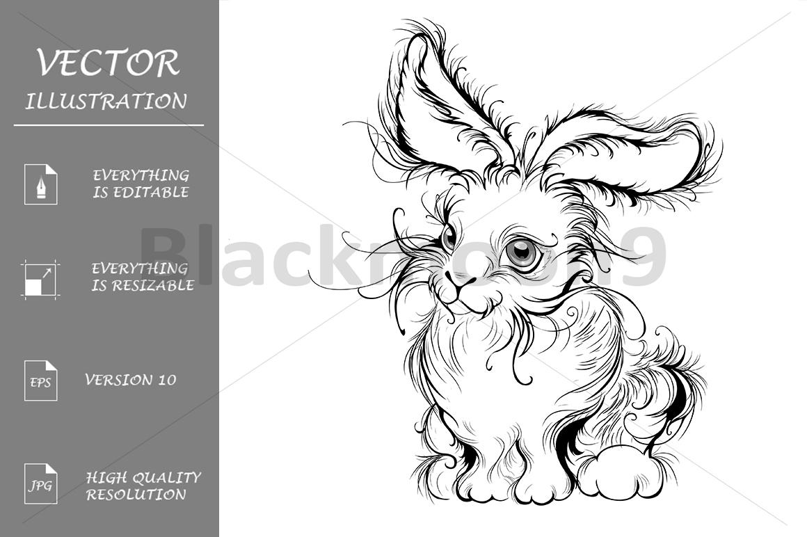 Stylized rabbit example image 1