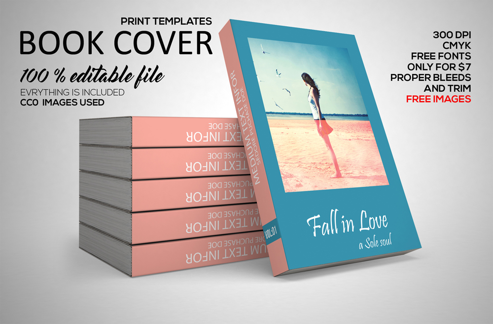 Free Professional Book Cover Template Word Doc Psd