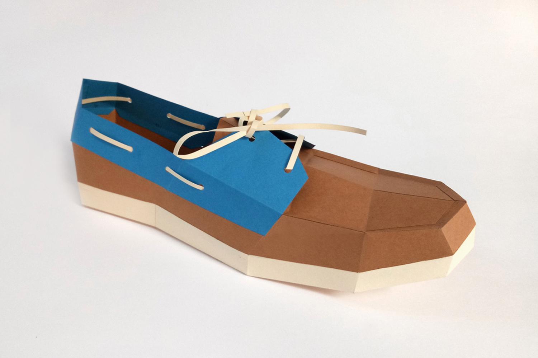 DIY Boat Shoe - 3d papercrafts example image 3