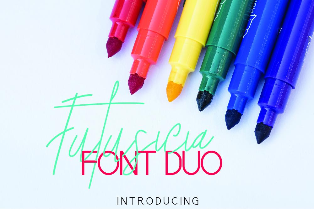 Futusicia Font Duo example image 1