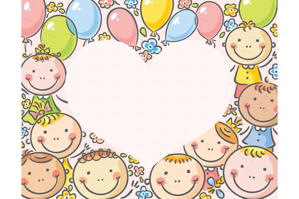Happy Cartoon Kids Bundle, children doodle, kids doodle example image 12
