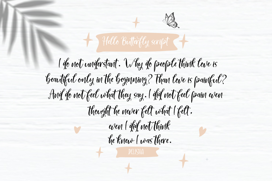 Hello Butterfly-Font Duo example image 6
