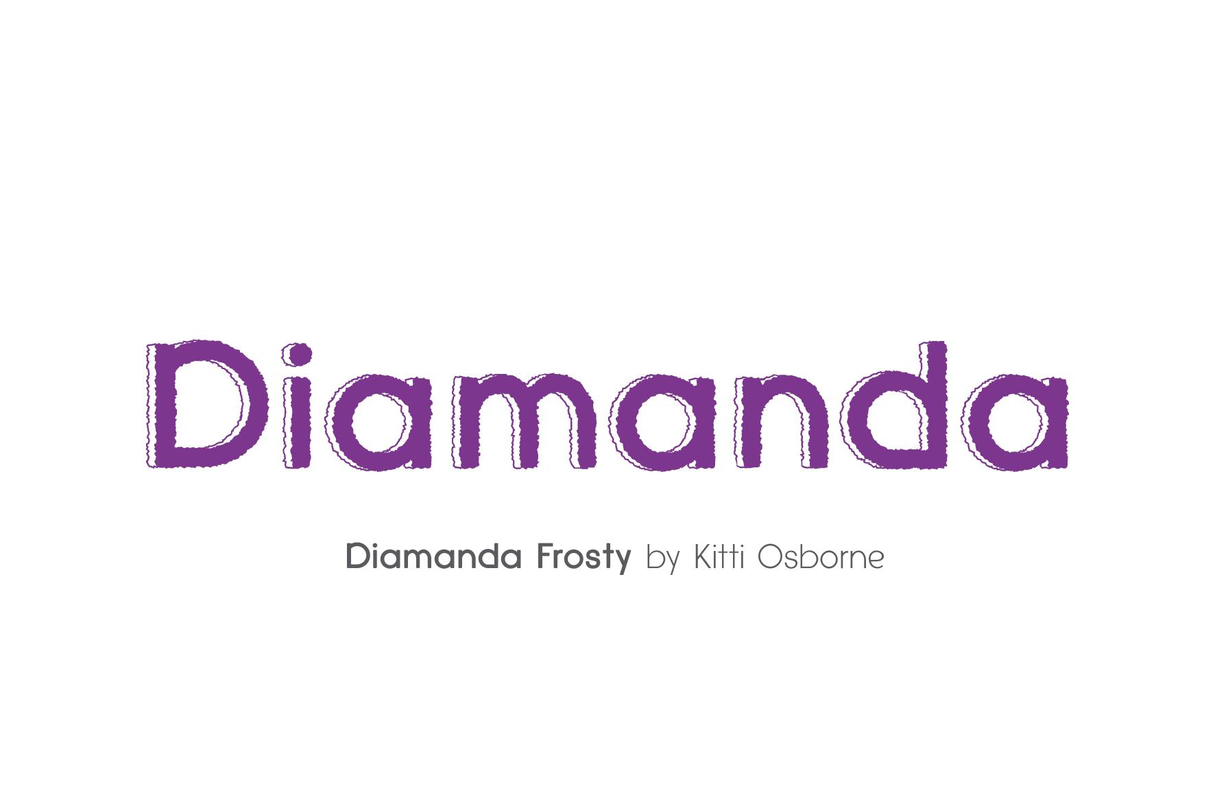 Diamanda Font Family Bundle includes 6 crafting fonts example image 7