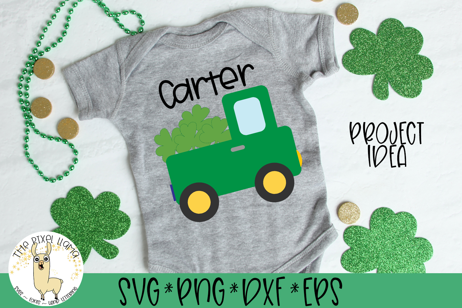 St Patrick's Lucky Truck SVG Cut File example image 1