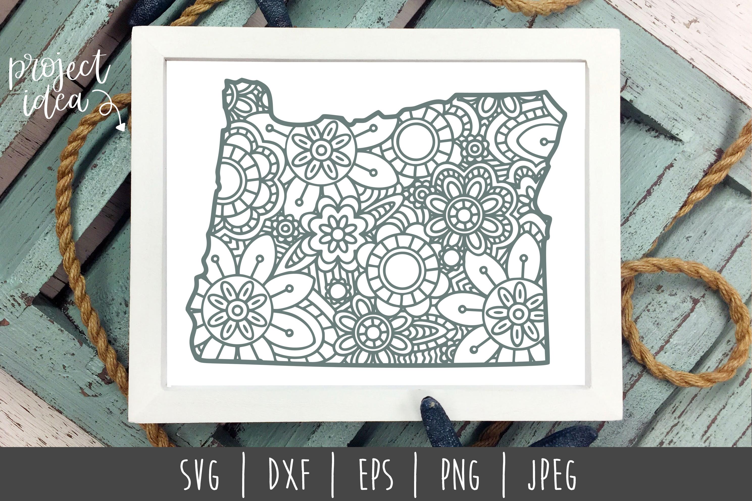 State Mandala Zentangle Bundle Set of 50 - USA SVG example image 2