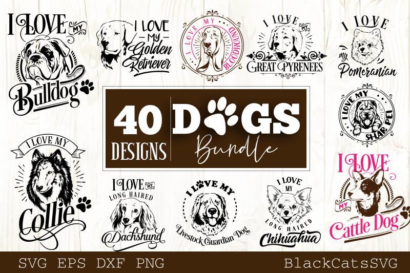 Dogs SVG bundle 40 designs example image 2