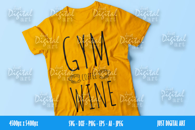 Gym Coffee Wine SVG  PNG   EPS  Coffee  Digital Download example image 3