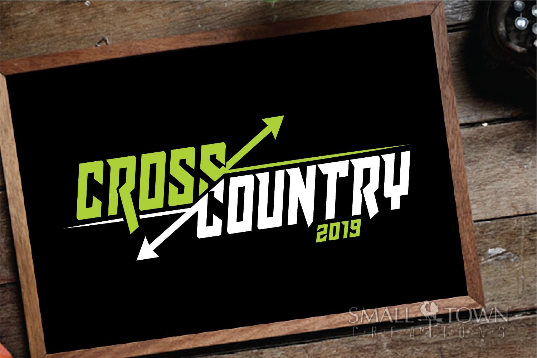 Cross Country, Running logo, Team, PRINT, CUT & DESIGN example image 2