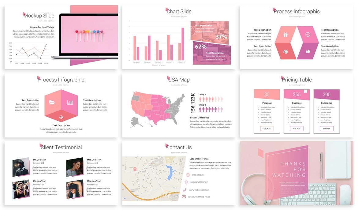 Skuar - Pastel Powerpoint Template example image 4