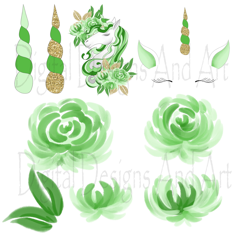 Unicorn in green example image 3