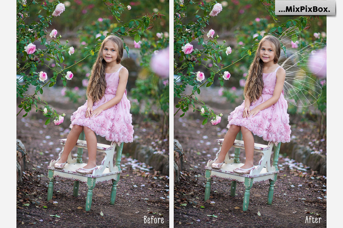 Fairy Wings Photo Overlays example image 3
