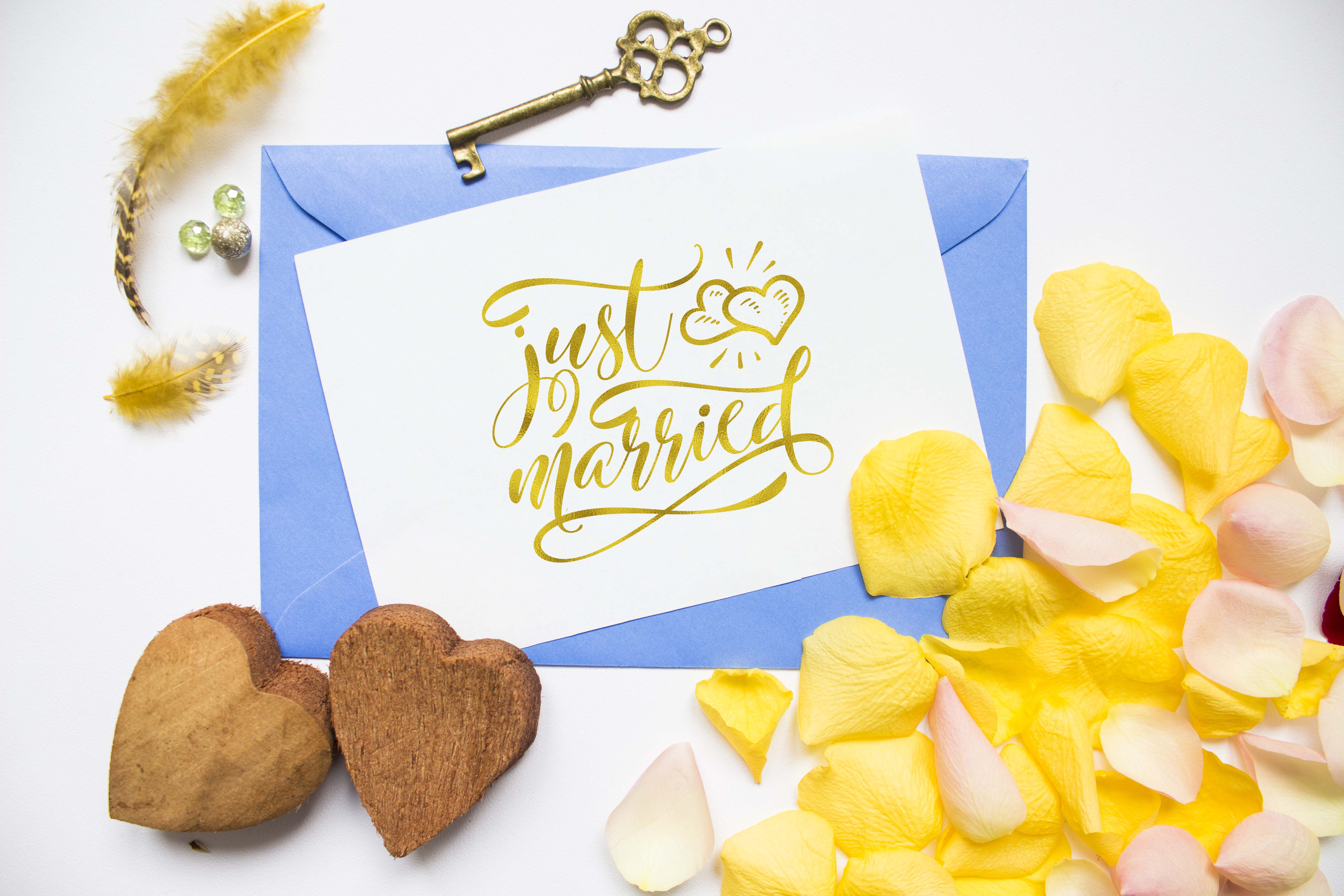 Just married SVG PNG EPS DXF, Wedding svg design example image 2
