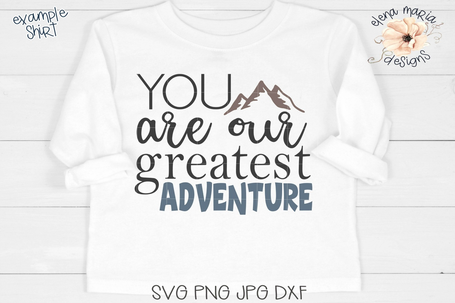 Baby SVG Cut File, You Are Our Greatest Adventure SVG, PNG example image 1