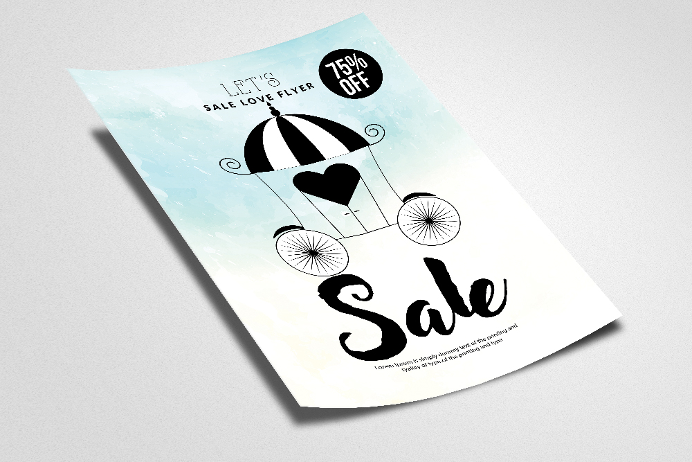 Sale Offer Typography Flyer example image 2