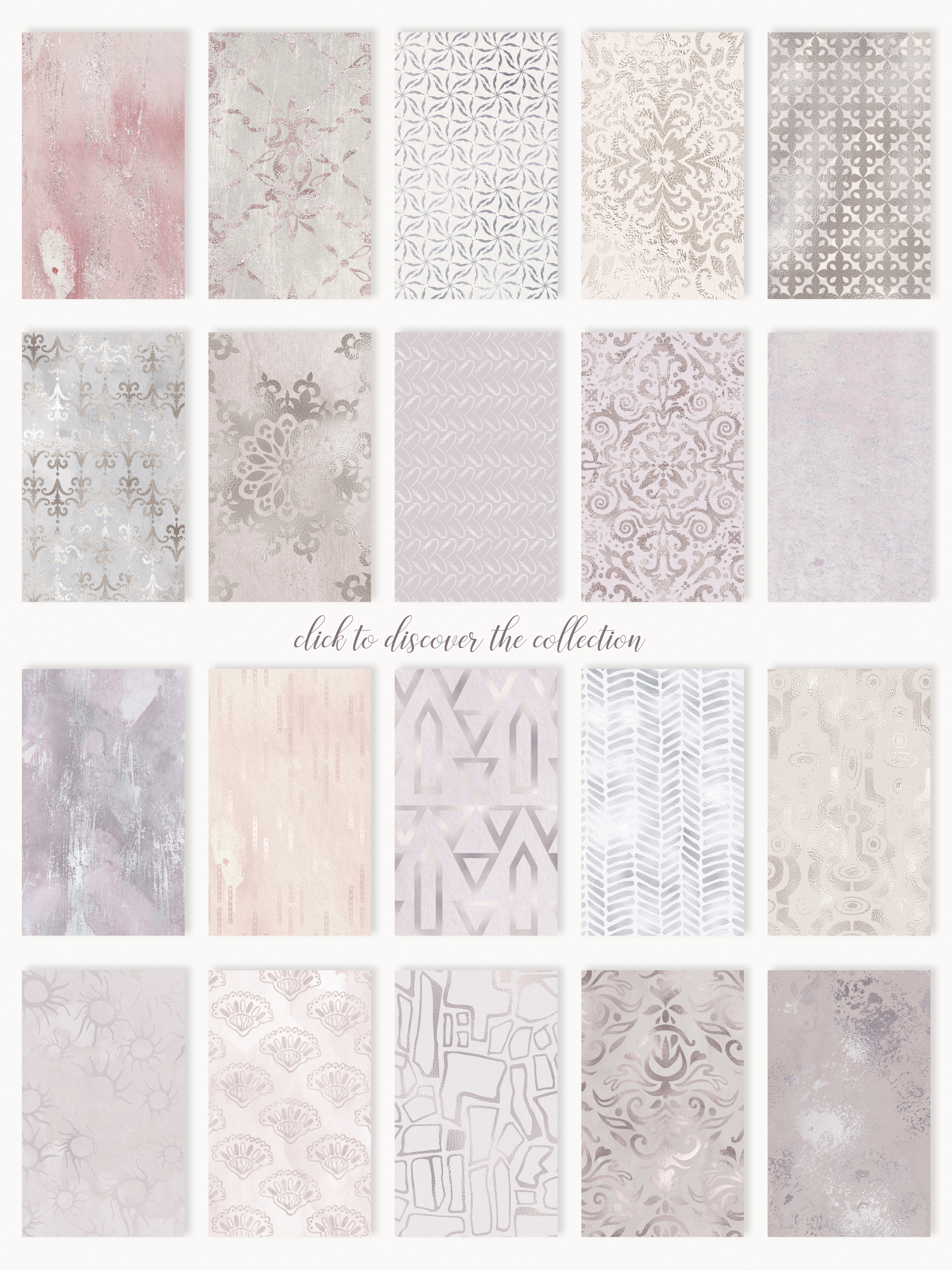 20 Seamless Shabby Chic Digital Papers example image 17
