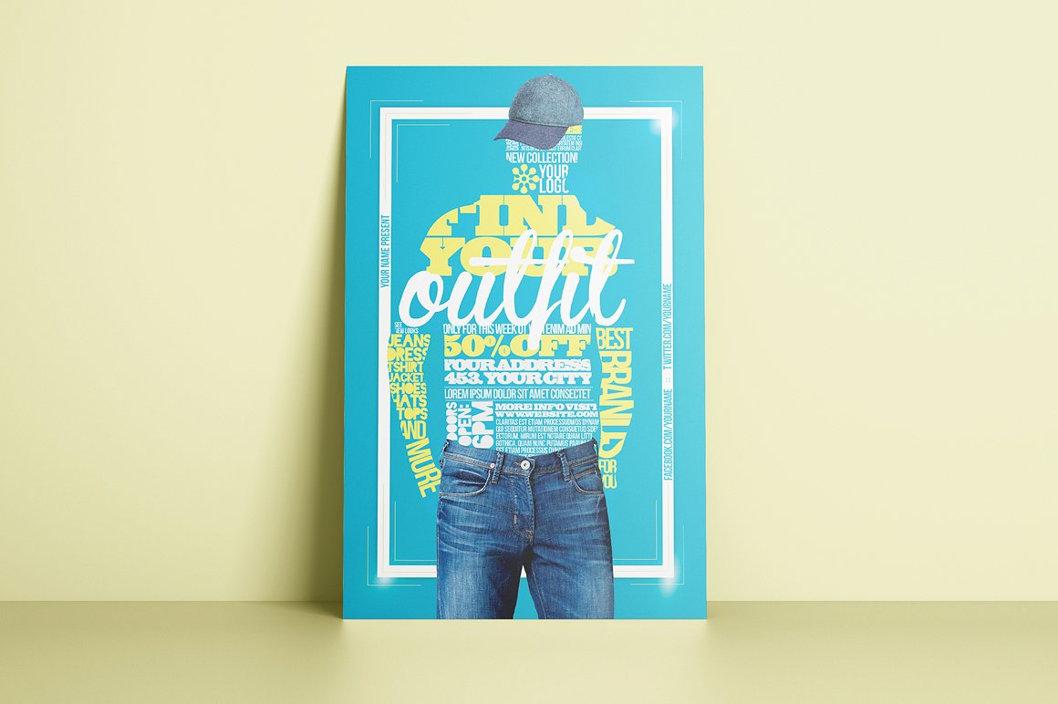 Your Outfit Flyer Template example image 2