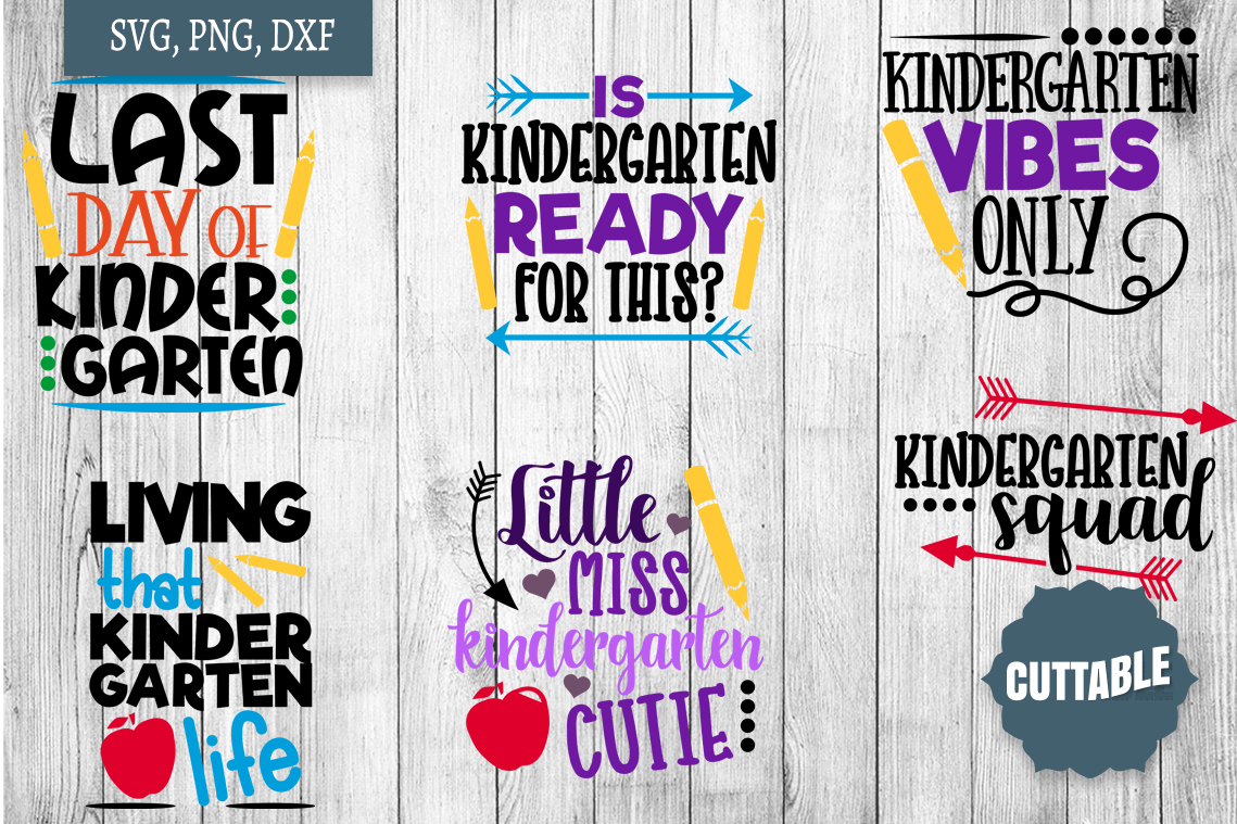 Kindergarten cut file bundle, Kindergarten SVGs cut files example image 2