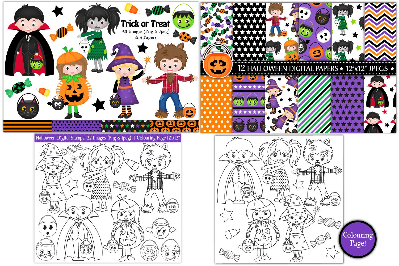 Halloween bundle, Halloween graphics & Illustrations example image 4