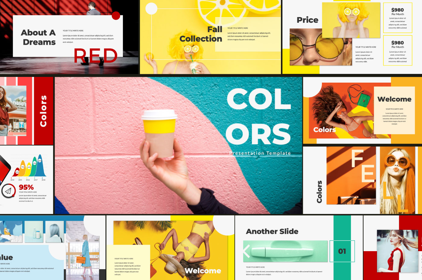COLORS - Powerpoint example image 1