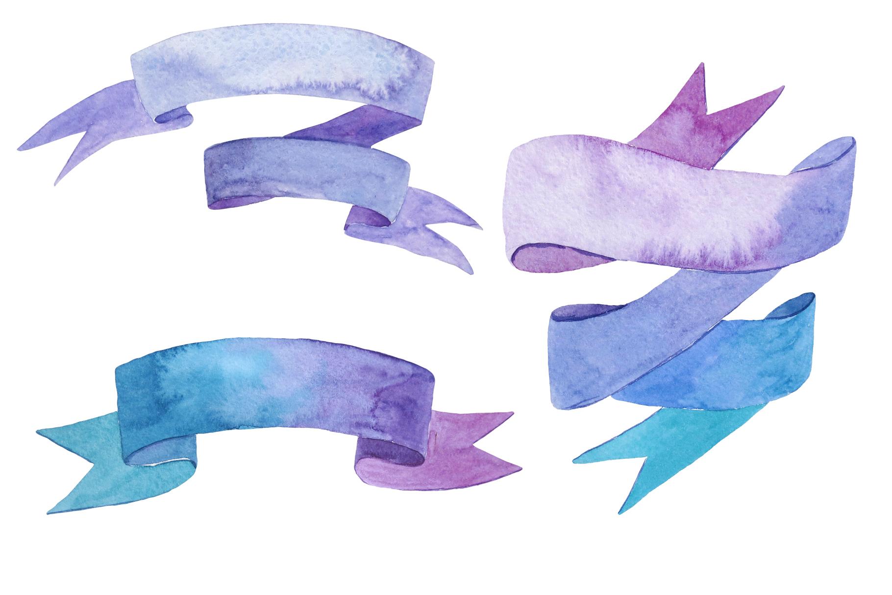 Ribbons and bows watercolor example image 2