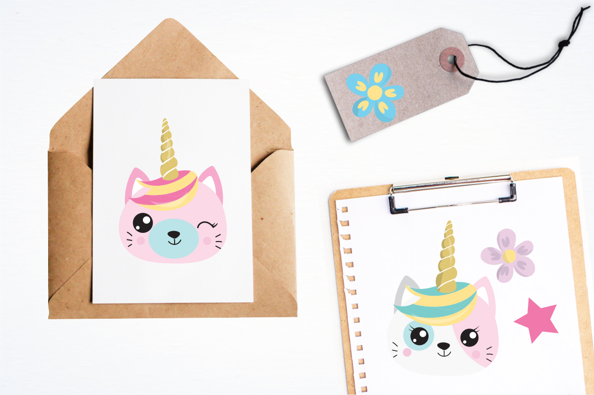 Kawaii Cats graphic and illustrations example image 4